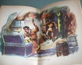 French book 'Davy Crockett et Les Pirates' translated from 'Davy Crockett and Mike Fink' 1957 Illustrations Walt Disney
