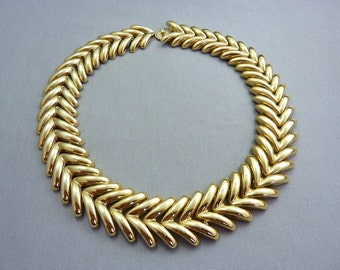 Necklace Vintage Gold Heavy Metal Choker