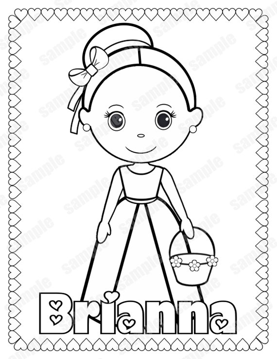 personalized coloring pages - photo#11