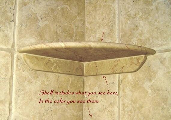 shower shelf to install to existing tile after tile install. Black Bedroom Furniture Sets. Home Design Ideas