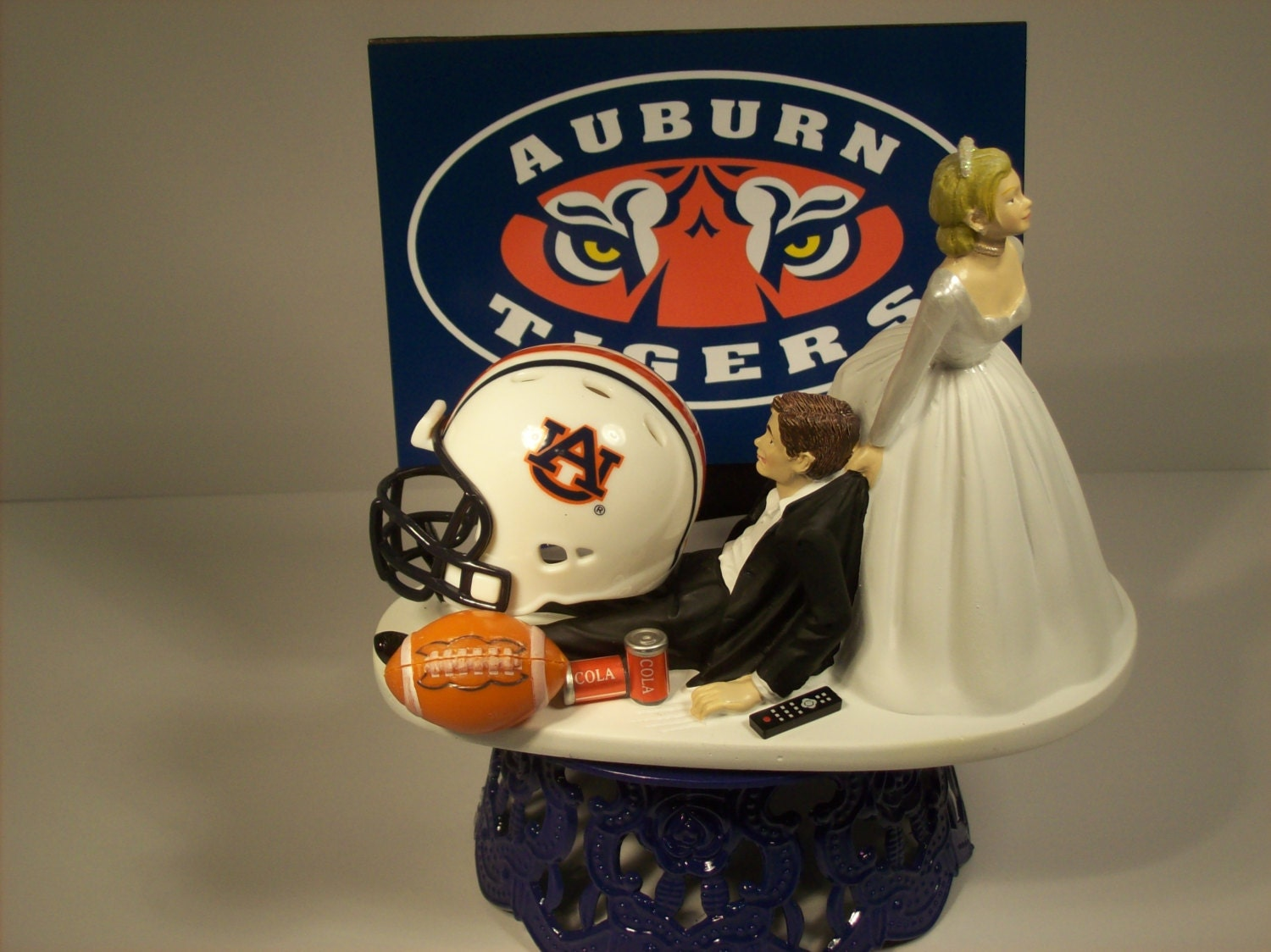 alabama football wedding cake toppers college football helmet auburn wedding cake topper 10645