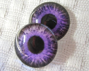16mm glass eyes-glass eye cabochons-eyes for sculpture and jewelry-weird doll eyes