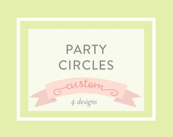 PARTY CIRCLES, Cupcake toppers, Printable