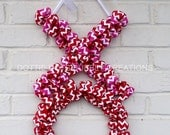 Hugs & Kisses XOXO Chevron Door/Wall Wreath