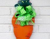 Metal Carrot Door/Wall  Wreath Hangings
