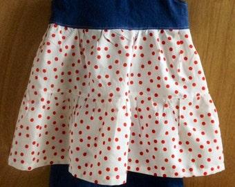 Polka Dot Summer Top and Ruffle Shorts, girls size 5