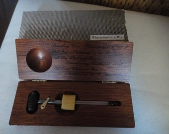 French wine thermometer in wood box Thermometre u Vin