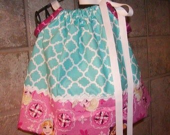 Girls Pillowcase top...Frozen Ana and Elisa...0-24 months and 2T to 10 Girls