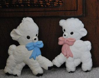Homco Nursery Wall Lambs