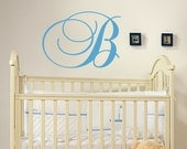 Monogram Wall Decal - Name Wall Decal -  Children Vinyl Sticker - Family Name Decal