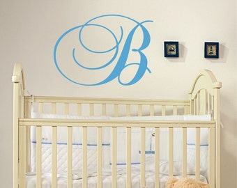 Custom Monogram Wall Decal // Initial Wall Decal // Nursery Vinyl Sticker // Family Monograma Decal // Monogram Initial // Home Decor