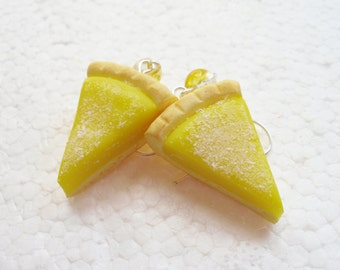 Lemon Tart earrings. Polymer clay.