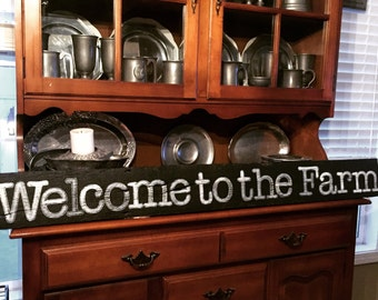 Welcome to the Farm reclaimed barnwood sign