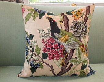 GP & J Baker Hydrangea Bird Pillow Cover