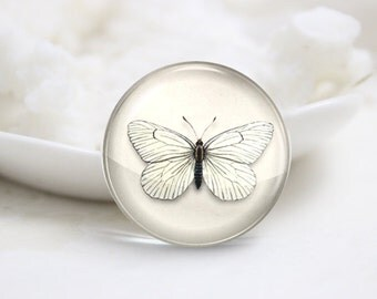 10mm 12mm 14mm 16mm 18mm 20mm 25mm 30mm Handmade  Photo Glass Cabochons -Butterfly (P1133)