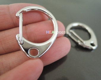 Finding - 2 pcs Silver Very Large Solid Lobster Claw Large Clasp Closure Toggle Buckle 28mm x 22mm