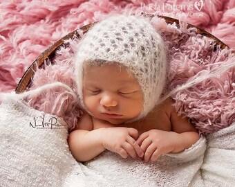 Knitting PATTERN - Lace Hat Pattern - Vintage Bonnet - Knitting Patterns - Knitting Pattern Baby - Baby, Toddler, Child, Adult - PDF 399