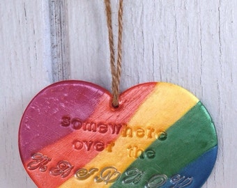 Somewhere Over The Rainbow Ornament
