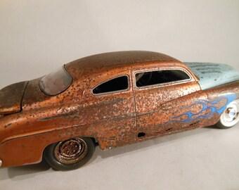 Rusty Rat Rod ,Mercury, Scale Model Car,Classicwrecks,Junker