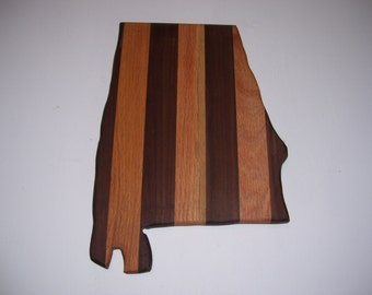 State of Alabama cutting board - made of walnut and oak