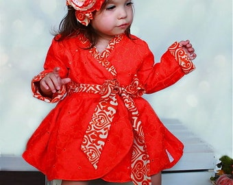 Baby Willow's Wrap Jacket PDF Pattern Sizes Newborn to size 18/24months