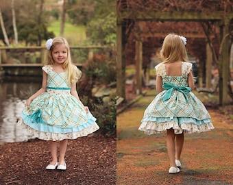Larkin's Fancy Party Dress PDF Pattern Sizes 6-12m to 8 girls
