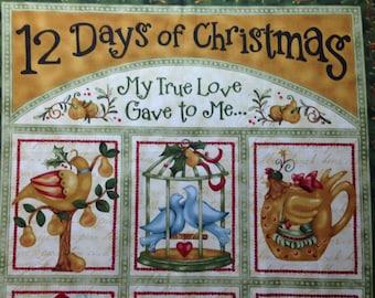 12 Days of Christmas by Nancy Halvorsen for Benartex - Christmas Fabric  - OOP