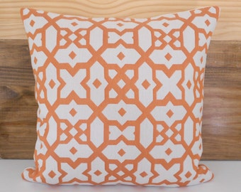 CLEARANCESALE Orange moroccan geometric decorative throw pillow cover