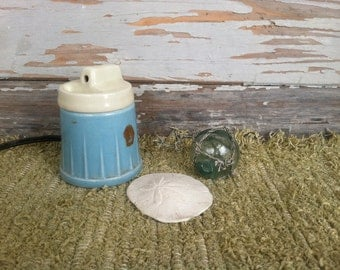 Antique Baby Vaporizer in Ivory and Powder Blue - Working Vintage, Retro Baby Nursery Decor, Taking Care of Sick Littles, Cold Solutions