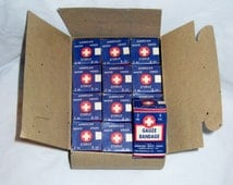 1960s Government Issue Fall out Shelter American White Cross Sterile First Aid Gauze Bandages