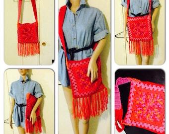 Boho fringe bag (ready to ship) black friday cyber monday sale
