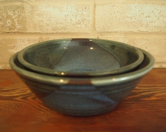 Set of 2 Bowls - Blue & Green