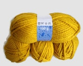 saffron yellow  yarn,  knitting yarn, fashion yarn, Each skein: 100 gr