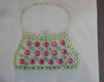 Rhinestone Purse Heat Transfer