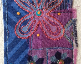 "Mini textile art: ""Hospitality, Unity, Abundance"""