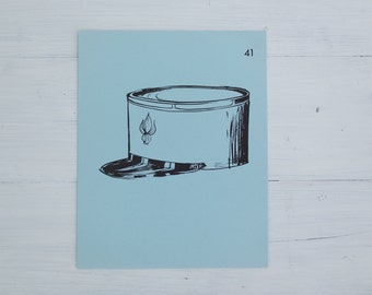 vintage french flash card - hat/cap