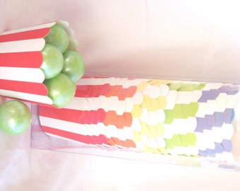 Small  Rainbow-with dark blue-Nut/Candy/Baking Cups--20ct--Parties--cupcakes-gumballs-snacks
