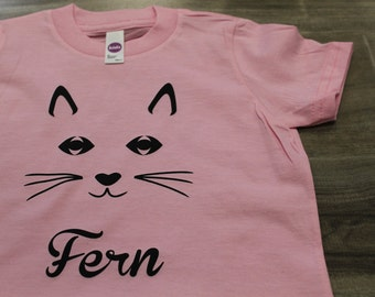 CAT Kid's personalized name Tshirt