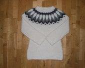 Icelandic pullover/sweater, womens sweater, Icelandic wool, XS-S-M-L-XL-XXL-3XL-4XL-5XL-6XL, made to order.