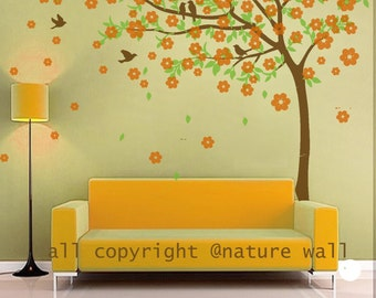 Kids wall decal Cherry blossom  tree decals baby nursery wall sticker wall decor wall art- Cherry Blossom Tree