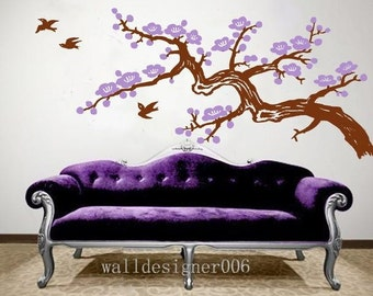 cherry blossom wall decals wall stickers kids wall art tree decals flower decals baby decals nursery decals -cherry blossom
