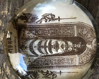 Virgo Loreto Holy Mother Divine Child Glass Paperweight