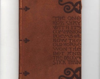 The One Hoss Shay by Oliver Wendell Holmes Suede Covers Riverside Press Edition