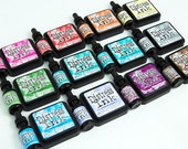 Tim Holtz Distress Ink Pad, Full Size, 12 New Colors Available, Picked Raspberry, Iced Spruce, Evergreen Bough, Peacock Feathers, & More