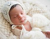 Newborn Hat, Classic Bonnet, Newborn Bonnet,White, Light Pink, Lilac, White, Choose Your Color, Photo Prop
