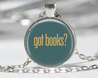 Book Necklace Book Jewelry Book Lovers Pendant Antique Book Necklace Literary Jewelry