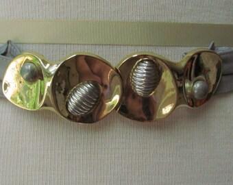 Vintage 1980's signed buckle and belt