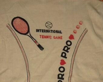 Rare Vintage 1970s Tennis T Shirt