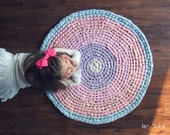SALE Pastel Cotton Candy Round Rug Ready to Ship