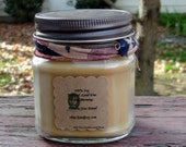 8oz 100% Soy Candle in Banana Nut Bread scent. Natural. Long Burning. Eco Friendly.